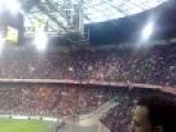 Ajax- Heerenveen Bob Marley Three little birds vanuit vak 401