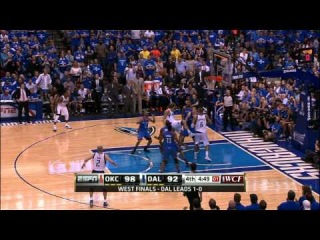 Nick Collison's Big Swat on Dirk