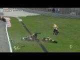 Moto GP Ужасная авария Симончелли с летальным исходом на ГП Малайзии 2011