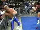 Arn Anderson, Barry Windham, Diamond Studd(Scott Hall) with DDP vs. Dustin Rhodes(Goldust), Yellow Dog(Brian Pillman)