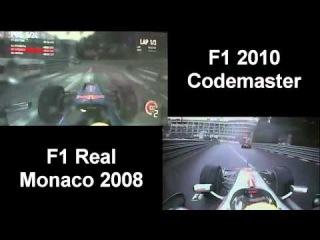 F1 2010 - Monaco: Vergleich Spiel vs. Wirklichkeit