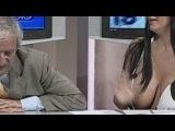 Как груди бывшей подруги Индзаги - Марики Фрушо в прямом эфире выпадали