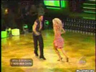 Willa Ford and Maksim Chmerkovskiy dance the Mambo