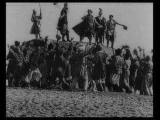"""Кадры из фильма """"Стенька Разин"""" 1908 год. Федор Шаляпин  """"Из-за острова на стрежень"""""""