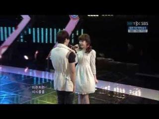 IU (아이유) & Lee Ki Kwang (이기광 from B2ST) Perform @ Inkigayo