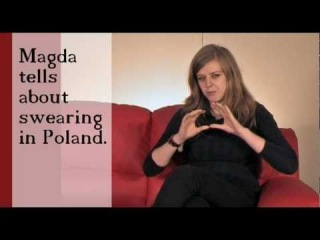 Magda tells about swearing in Poland (no subs)