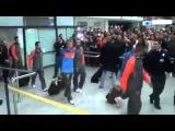 Роналдо приехал в Боснию - фанаты скандируют месси месси!!!!!!!!!