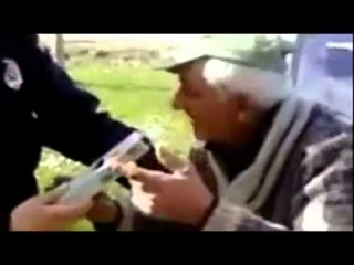 Old Drunk Guy Tries to Drink Out Of Breathalyser