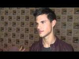 Comic Con 2011 Taylor Lautner talks Breaking Dawn