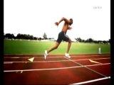 Замедленная съемка правильного бега. Asafa Powell