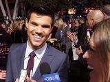 Breaking Dawn Premiere Taylor Lautner Talks Playing Bella - Los Angeles