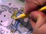 Раскрашивание Тильды акварельными карандашами