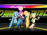 【MMD】H@ppy Together!!! - Miku, Teto, Neru and Rin