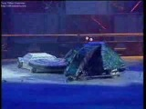 Hypno-Disc vs Robogeddon (Robot Wars battle)