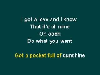Natasha Bedingfield - Pocketful Of Sunshine Karaoke