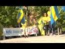 Демонстрация Шведских Демократов против левацкого насилия