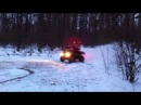 Genri NoraLasso winter extreme quadro ride in the forest!