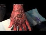 skull hand tattoo by jason dunn