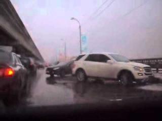 ДТП на Северном мосту в Ворнеже: 6 автомобилей