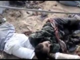 RAW, Libya , The Gaddafi loyalists killed and captured while with Gaddafi at sewer in Sirte