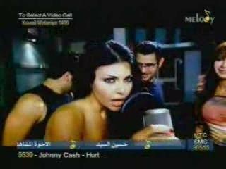Nancy Agram Hayfa Wahby rare videoclip (Marathoon)