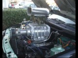 Ford sierra v8 supercharged - the evolution - and start up with the charger!
