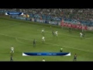 Матч финала Лиги Чемпионов ФК Барселона-Милан в PES 2012.