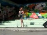 Rita playing sax in park Rouvenaz - Lily was here & Kenny G`s song