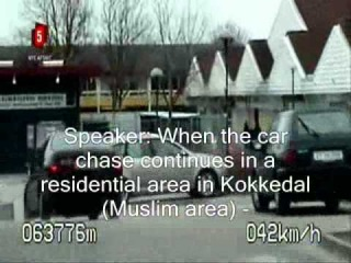 Danish police chases car in Muslim ghetto