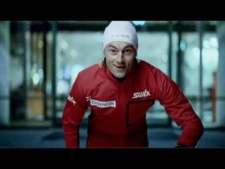 Лыжный король Петтер Нортуг и музыка Queen, норвежская реклама DnB NOR