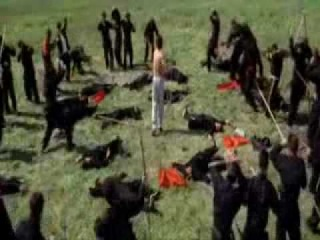 fight scene from the film Kung Pow
