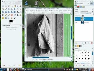 Gimp - Как сделать из двух изображений одно оригинальное