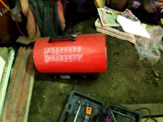 Работа газовой тепловой пушки 31кВт