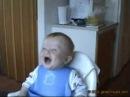 Bayby mit lachflash