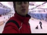 Прохор Шаляпин и София Тайх - Катание на лыжах. 29.10.2011 г