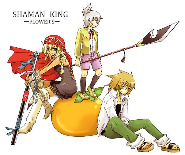 Король шаманов манга цветы