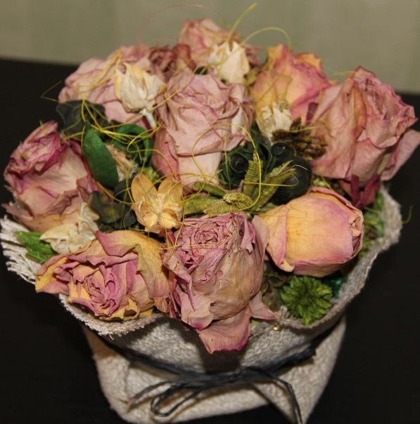 Как сделать композицию из сухих цветов