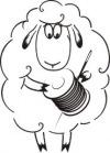 Овца Рукодельница - вышивка крестом и бисером