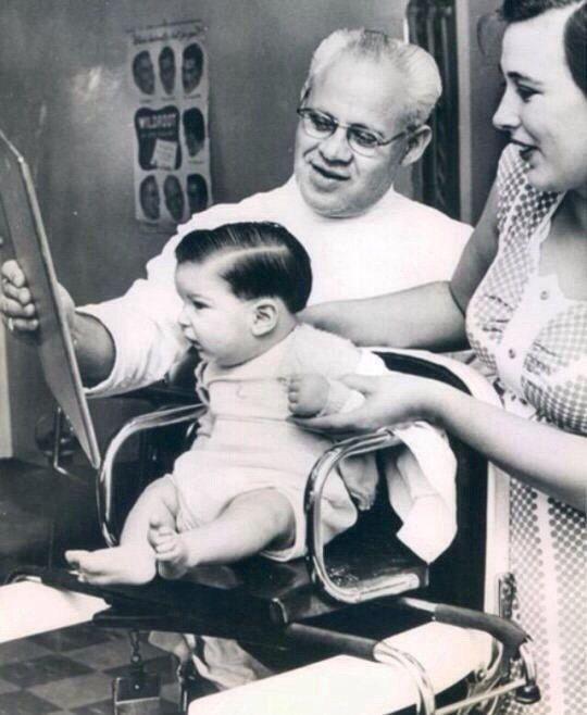 Ретрофото: первая стрижка, 1950-е