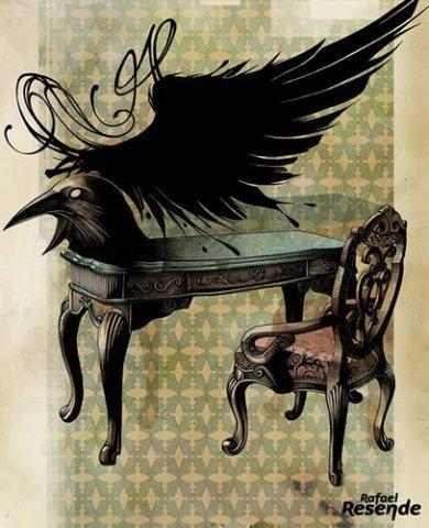 Что общего у ворона и письменного