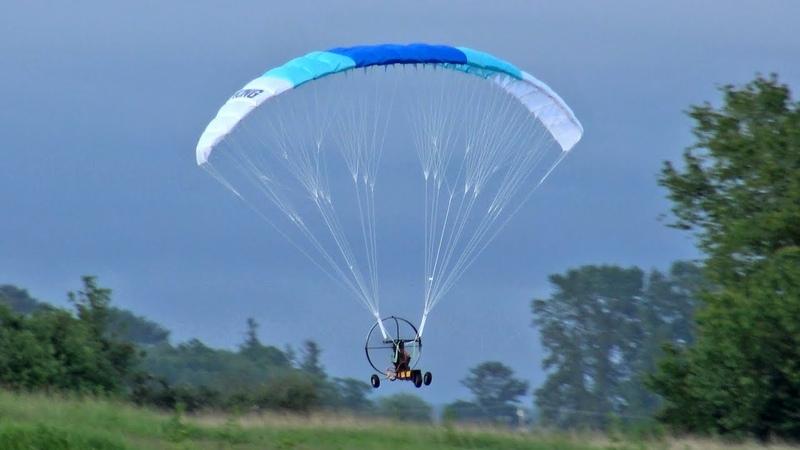Unedited H-King Paramotor Maiden Flight Review - Hobbyking PPG