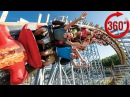 360 Virtual Reality Video. Stunning Speed ROLLER COASTER Ride ATTRACTION VR VIDEO 4K 360