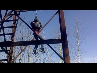 Оршанский Пацан прыгает с вышки