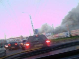 Пожар на торфяной дороге