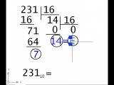 Перевод из 10-ой в 16-ую систему счисления