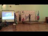 Выступление 4 отряда на школе актива