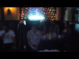 мой ДР, в караоке бар Корчма!))21 год!))песня-Владимирский централ!))