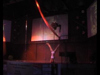 Открытый Чемпионат artistic pole dance 2012 г Челябинск Сухорукова Алина Гандина Татьяна AIR POLE dance STD