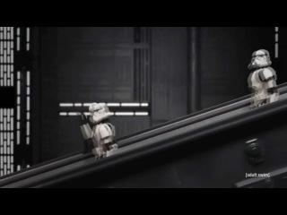 Робоцып - Звездные войны ( Дарт Сидиус на эскалаторе )