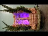 Фонтан настольный с цветным туманом и скульптурой